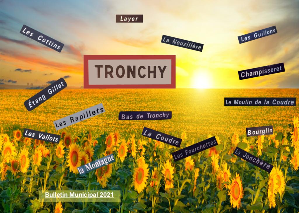 réalisation print couverture paysage bulletin municipal Tronchy